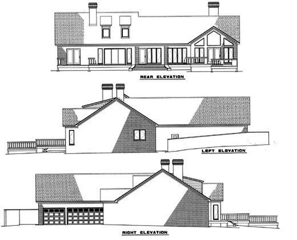 Traditional House Plan 61074 Rear Elevation