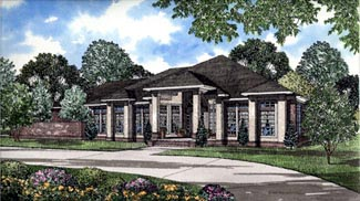 Colonial Contemporary House Plan 61076 Elevation