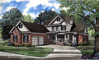 Traditional House Plan 61085 Elevation