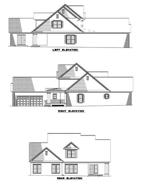 Traditional House Plan 61085 Rear Elevation