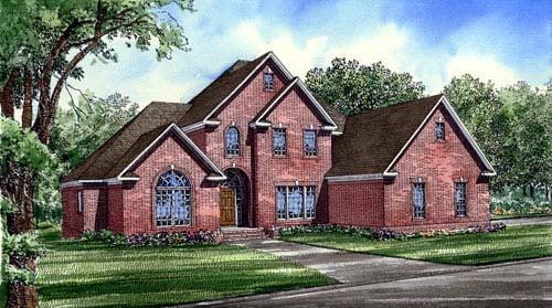 European Traditional House Plan 61086 Elevation