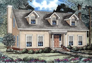 Cape Cod House Plan 61094 Elevation
