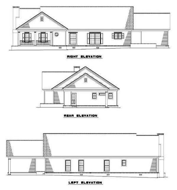 Traditional House Plan 61095 Rear Elevation