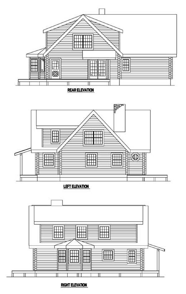 Contemporary House Plan 61108 Rear Elevation