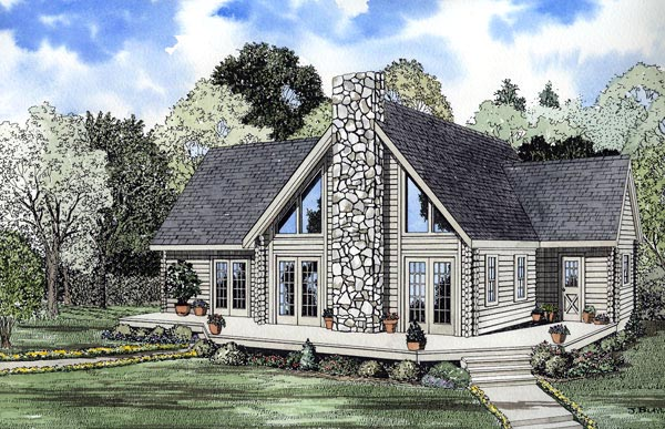 Contemporary House Plan 61110 Elevation