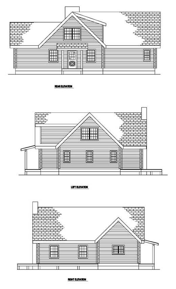 Contemporary House Plan 61110 Rear Elevation