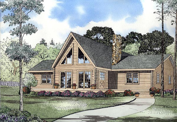 House plan 61120 at for Large front windows house