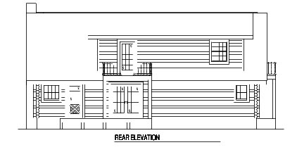 Country Log House Plan 61139 Rear Elevation