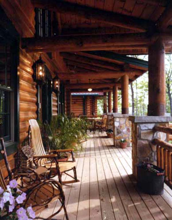 Log House Plan 61155