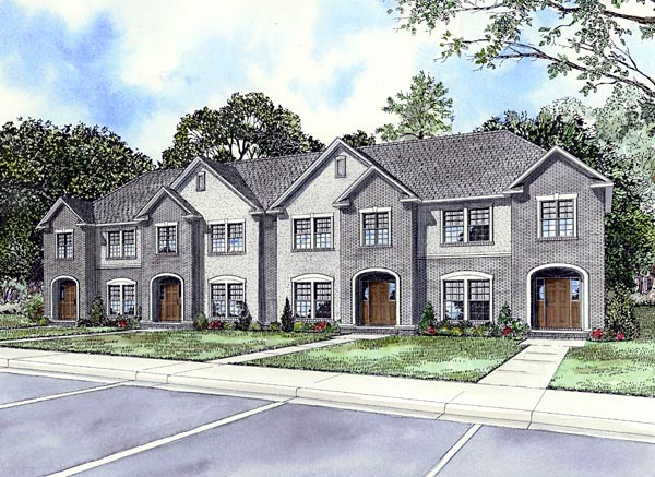 Multi-Family Plan 61158 Elevation