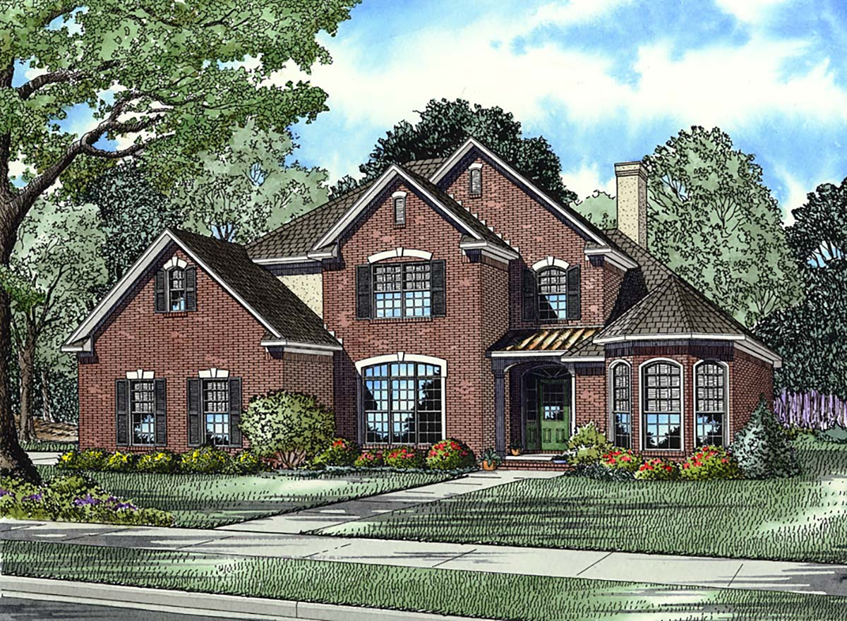 Traditional House Plan 61162 Elevation
