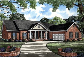 Colonial House Plan 61163 Elevation