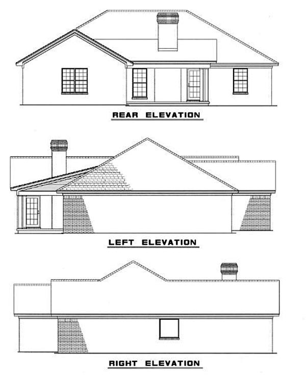 Traditional House Plan 61167 Rear Elevation