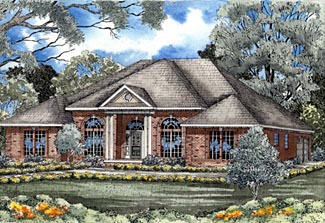 European House Plan 61168 Elevation