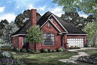 Traditional House Plan 61180 Elevation