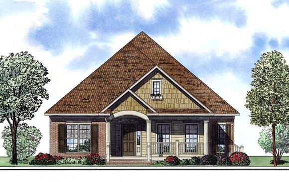 House Plan 61181 with 3 Beds, 2 Baths, 2 Car Garage Elevation