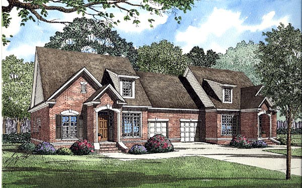 Traditional Multi-Family Plan 61188 Elevation