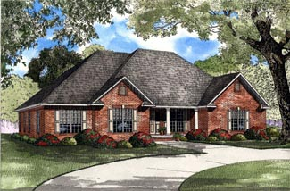 Traditional House Plan 61193 Elevation