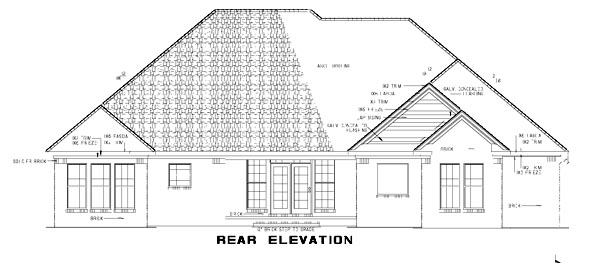 Traditional House Plan 61193 Rear Elevation