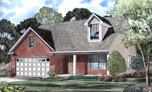Traditional House Plan 61208 Elevation