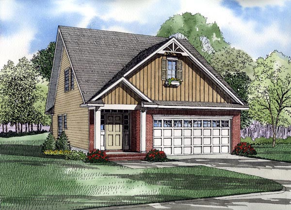 House Plan 61214 Elevation