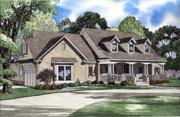 Cape Cod Country Traditional House Plan 61219 Elevation
