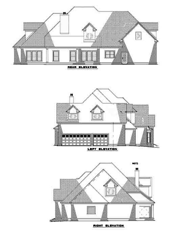 Contemporary House Plan 61220 Rear Elevation