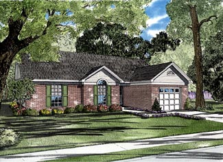 Traditional House Plan 61243 Elevation