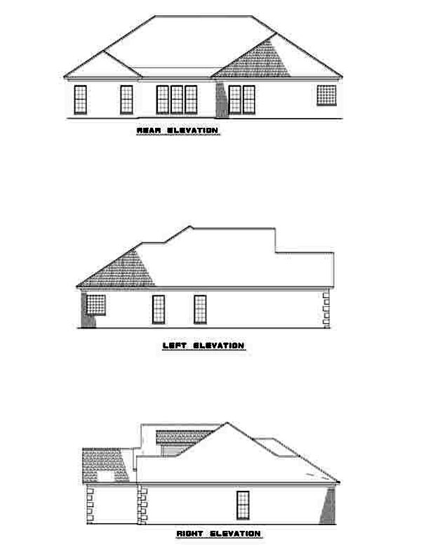 Contemporary House Plan 61254 Rear Elevation