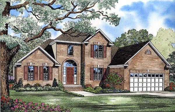 European House Plan 61258 Elevation