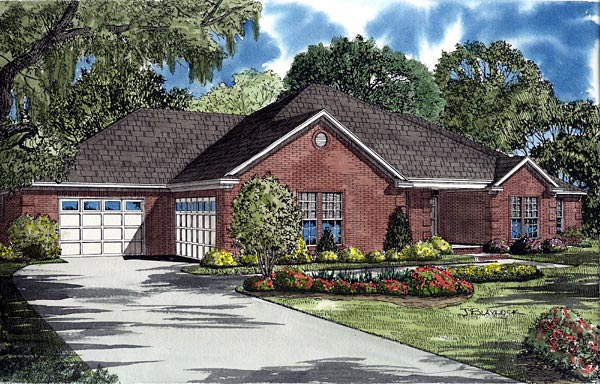 Traditional House Plan 61261 Elevation