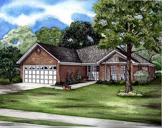 Ranch House Plan 61266 Elevation