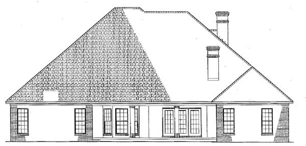 Traditional House Plan 61271 Rear Elevation