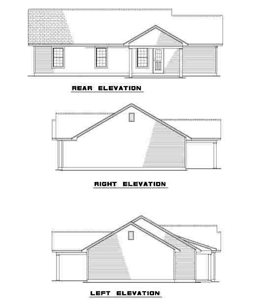 Ranch Multi-Family Plan 61276 Rear Elevation