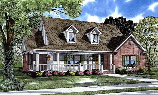 Country House Plan 61288 Elevation