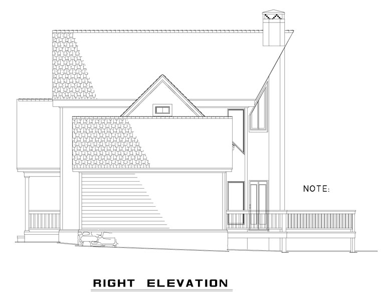 A-Frame, Coastal, Contemporary House Plan 61290 with 2 Beds, 2 Baths, 1 Car Garage Picture 2