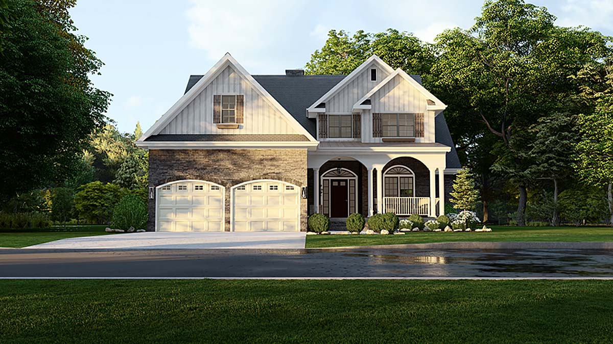 Country House Plan 61293 Elevation