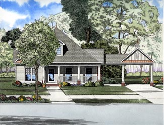 Southern House Plan 61306 Elevation