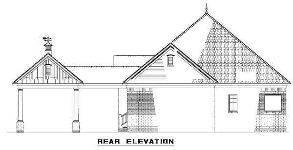Southern House Plan 61306 Rear Elevation
