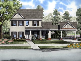 Colonial House Plan 61316 Elevation