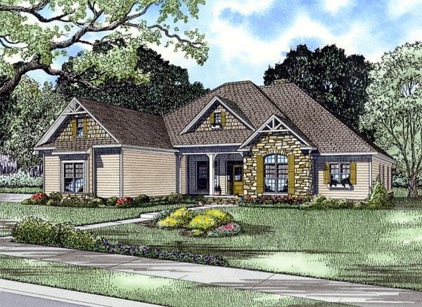 Craftsman European Tudor House Plan 61321 Elevation