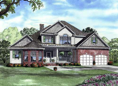 Elevation of Traditional   House Plan 61322