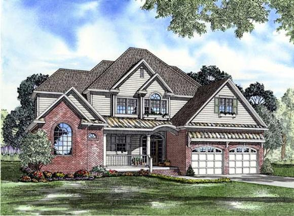 Craftsman House Plan 61329 with 4 Beds, 4 Baths, 2 Car Garage Elevation