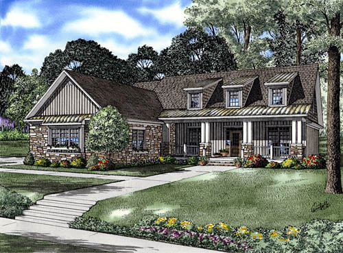 Country House Plan 61332 Elevation