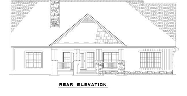 Country House Plan 61332 Rear Elevation