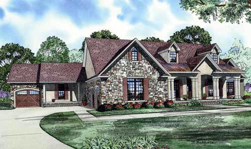 House Plan 61344 Elevation
