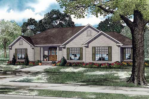 Traditional House Plan 61350 Elevation