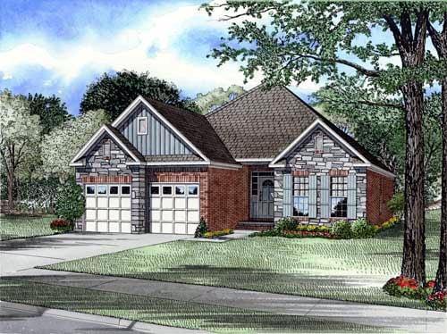 Bungalow Craftsman European House Plan 61353 Elevation