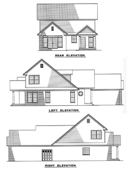 Country European House Plan 61356 Rear Elevation