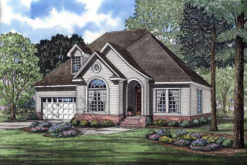 Traditional House Plan 61357 with 3 Beds, 3 Baths, 2 Car Garage Elevation